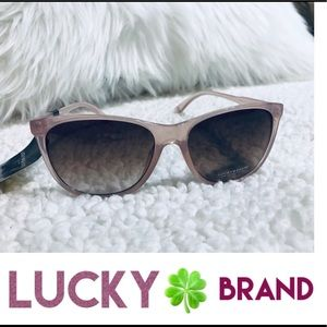 🍀 Lucky Brand Los Felix Pink Sunglasses New🍀